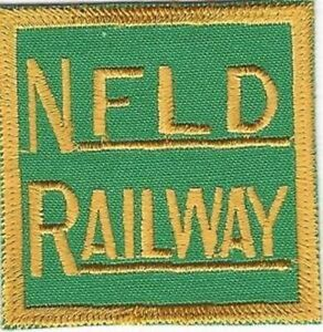 NFLD Newfoundland Railway Embroidered Cloth Patch, Glue Backing