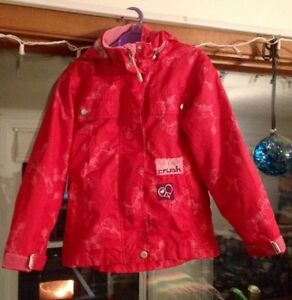 Size 5 Girls' Fall jacket - detachable hood