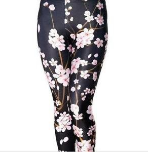 Women's Cherry Blossom Printed Leggings