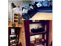 Job lot - Corner Sofa, Dinning Table, Bookcases + lots more