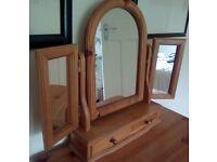 Solid wood mirror dresser top