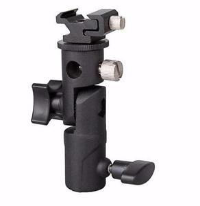 Metal hotshoe Holder Bracket  /Triple Head Hot Shoe Mount Adapter /Quick Release L plate Bracket