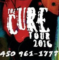 THE CURE : SECTIONS ROUGE ET PARTERRE !!!
