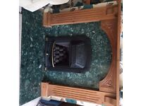 Valour Gas Fire - Living flame coal effect - recently serviced