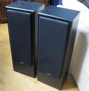 Set of Fisher STV-9005BC Three-Way Speakers for sale.