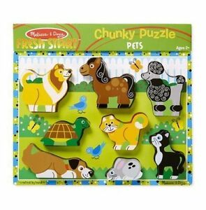 Brand New - Melissa & Doug - Chunky Pet Puzzle
