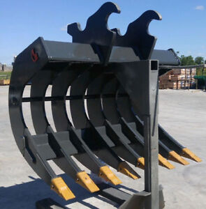 EXCAVATOR ATTACHMENTS - BUCKETS, RAKES, THUMBS, RIPPERS,