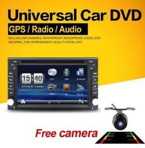 "6.2"" Double 2 Din Radio, GPS, Bluetooth, Backup Cam, CD/DVD, USB"
