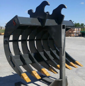EXCAVATOR BUCKETS, GRAPPLES, RAKES, THUMBS, RIPPERS