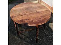 Drop Leaf Vintage Dining Table
