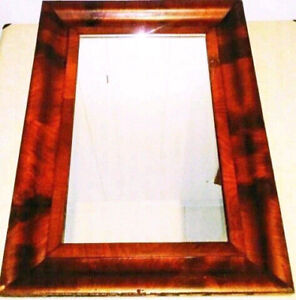 Antique ART DECO Frame Mirror BURLED WOOD Vintage FREE DELIVERY