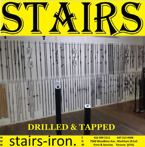 DRILLED & TAPPED STAIRS BALUSTERS , PARTS , SERVICE