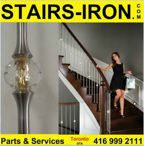 STAIRS parts.Stainless steel Crystal ball balusters.EZ to instal