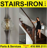 LUXURY Gold reflective Stainless Steel Crystal Ball Stairs Parts