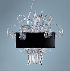 Black and Glass Chandelier