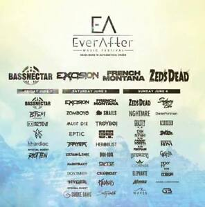 Ever After Music Festival GA 3-Day Wristbands @ Bingemans Centre