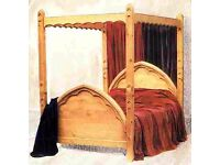 Gothic Pine 4 Poster Bed - Super King