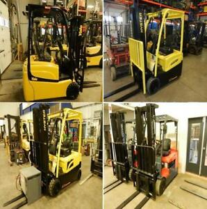 plusieurs chassis 3 roues Hyster Yale Toyota 3 wheels 4000 lbs
