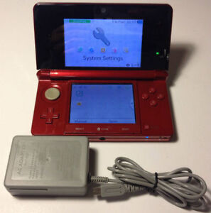 *****RED NINTENDO 3DS + MANY GAMES AVAILABLE*****