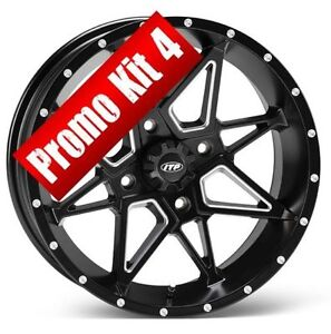 "ITP TORNADO  14"" Wheels RIMS Set of 4  -- ATV TIRE RACK"
