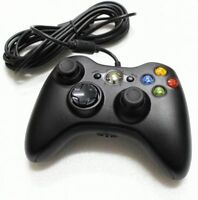 Official Black Wired Xbox 360 Controller (Like new)