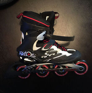 MINT (used 1 time) K2 Moto Speed men's size 9 roller blades