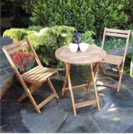 Bisto wooden table and 2 Chairs