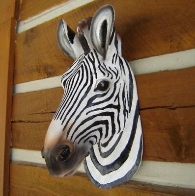 Used, ZEBRA WALL HEAD MOUNT SMALL SCULPTURE STATUE SAFARI AFRICA for sale  Cloverdale
