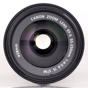 Canon EF-S 55-250mm f/4-5.6 IS STM Version II, with Box