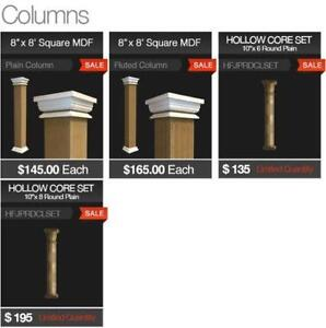 MDF Square Plain Columns on SALE