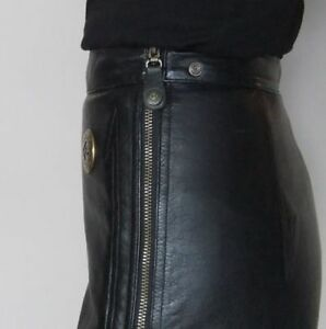 Harley Davidson genuine leather skirt/skort.