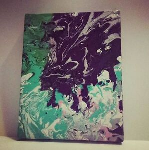 Fluid Painting and Leo Galaxy Painting