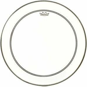 "22"" Remo Powerstroke 3 Clear PS3 bass drum"""