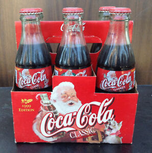 1999 & 2000 Coca Cola / coke 6 pack bottles with carriers Cambridge Kitchener Area image 3