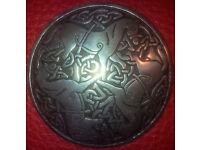 St-Justin-Pewter-Inverurie-Horses brooch for sale in liverpool