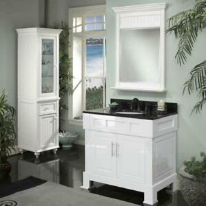 Meuble vanité blanc 36'' DEMO,comptoir granite/white vanity 36''