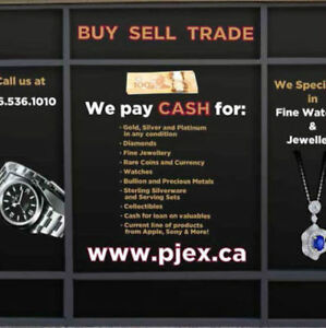 Best Cash Paid For Your Gold/Watch/Jewelry Call 6477161010