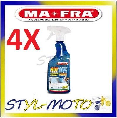 4X DEGHIACCIANTE ISTANTANEO ELIMINA GHIACCIO GELO BRINA AUTO MAFRA NOT ICE 500ML