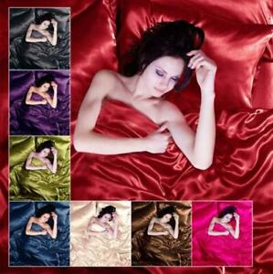 Sexy Satin 6 Pcs Queen / King Bed Duvet Cover Pillow Cover Fitte
