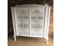Large White Art Deco Display Cabinet
