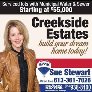 Newly developed subdivision - Creekside Estates Moose Creek