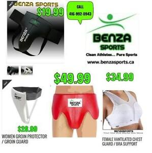 JOCK,RASH GUARDS, GROIN PROTECTORS ONLY @ BENZA SPORTS $19.99