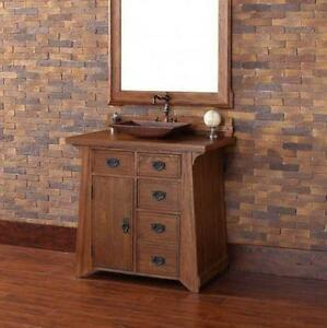 "Pasadena 36"" Single Bathroom Vanity with Wood Top"
