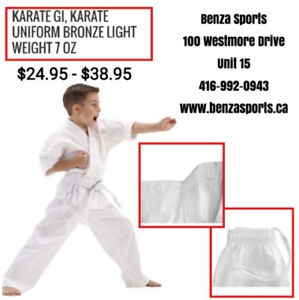 Karate Uniform for Sale only at Benza Sports