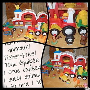 FERME Fisher-Price - des ANIMAUX - Gros tracteur - 30 MCX - 30$