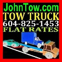 (JohnTow.com)TOWING*604-825-1453 TOW TRUCK,ABSFRD,MISSION,CHILWK