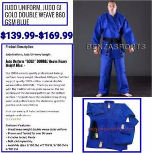 Judo Uniform / Judo Gi GOLD Double Weave 860 GSM Blue