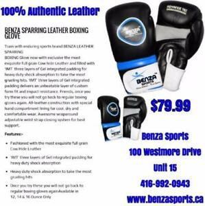 TOP QUALITY BOXING GLOVES 100% AUTHENTIC LEATHER ONLY @ BENZA SPORTS