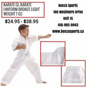 KARATE GI / KARATE UNIFORM ON SALE ONLY @ BENZA SPORTS STARTING FROM
