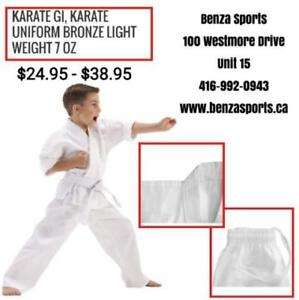 KARATE GI / KARATE UNIFORM ON SALE ONLY @ BENZA SPORTS STARTING FROM $24.95